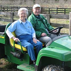 Tree farmers Bob and Jean Cooper