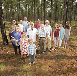 The McKay Family on their tree farm